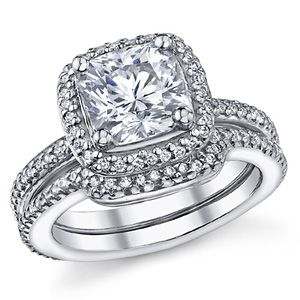 chasing harry winston harry winston engagement ringscushion - Harry Winston Wedding Rings