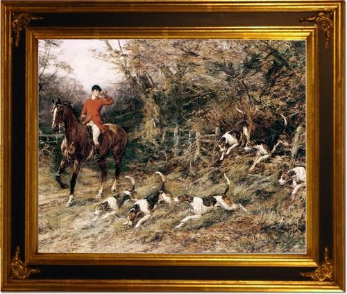 Heywood Hardy - Calling the Hounds Out of Cover - Fox Hunting Fox ...