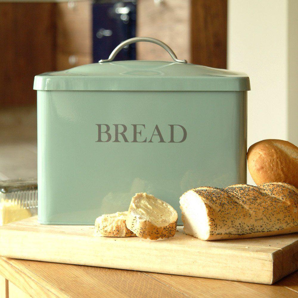 Pastel Coloured Kitchen Accessories: Pastel Coloured Bread Bin.