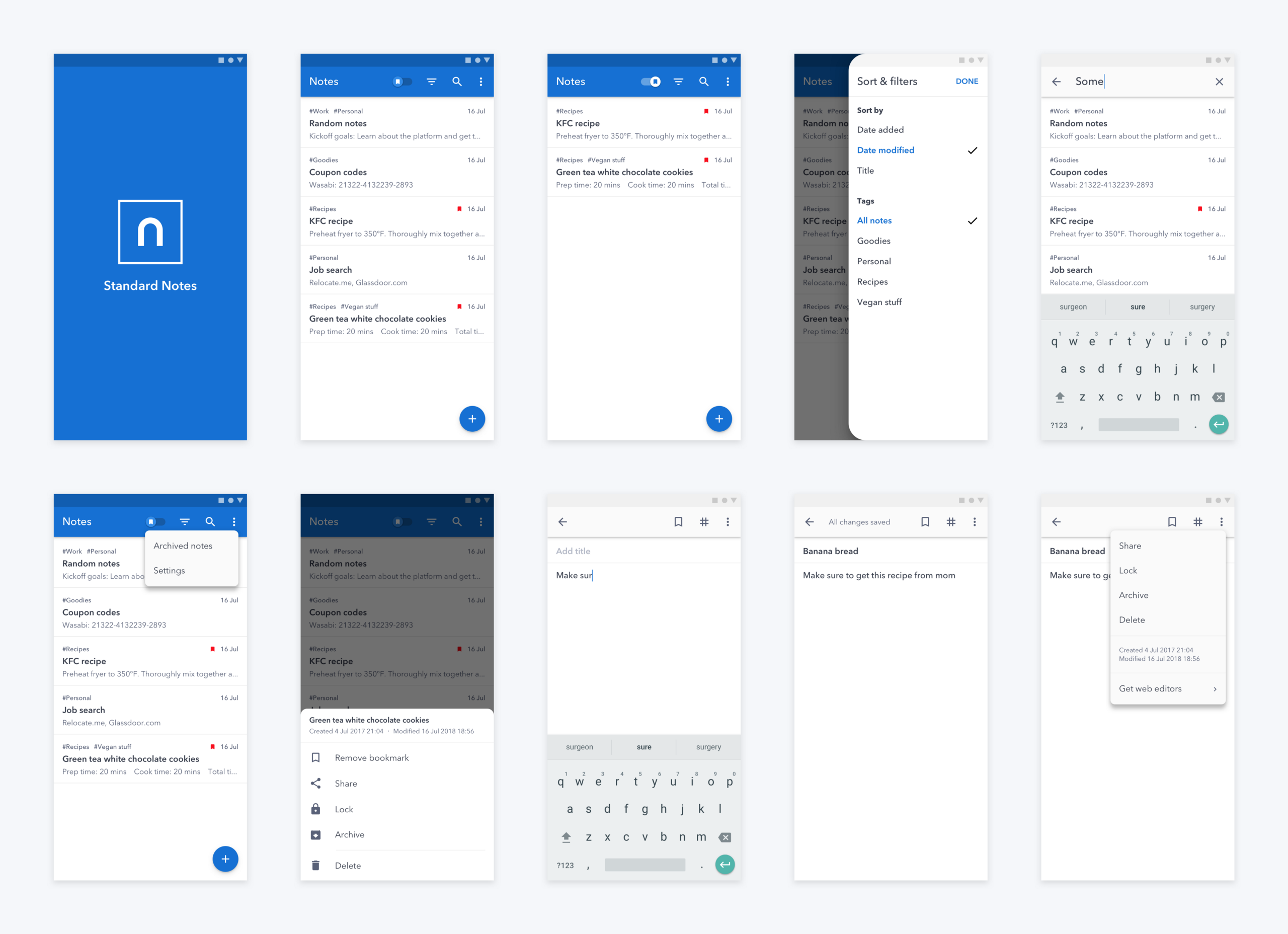 Redesign Concept Standard Notes For Android Android Notes Android Design Android App Design