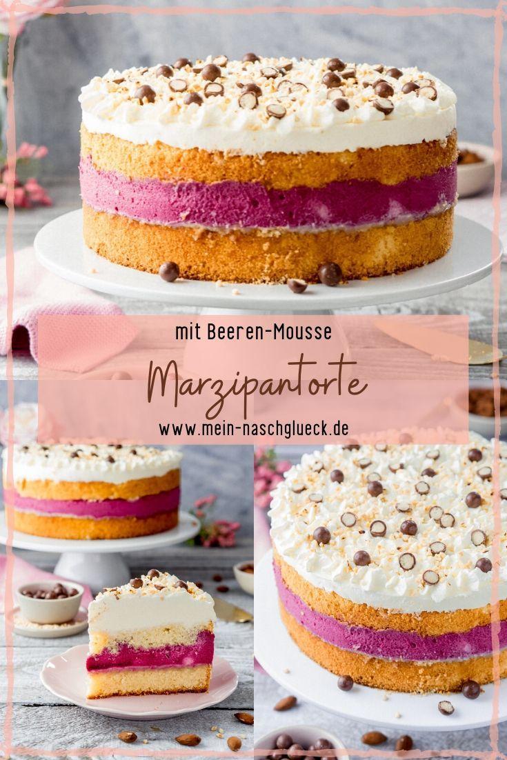 Marzipan cake with almond base recipe