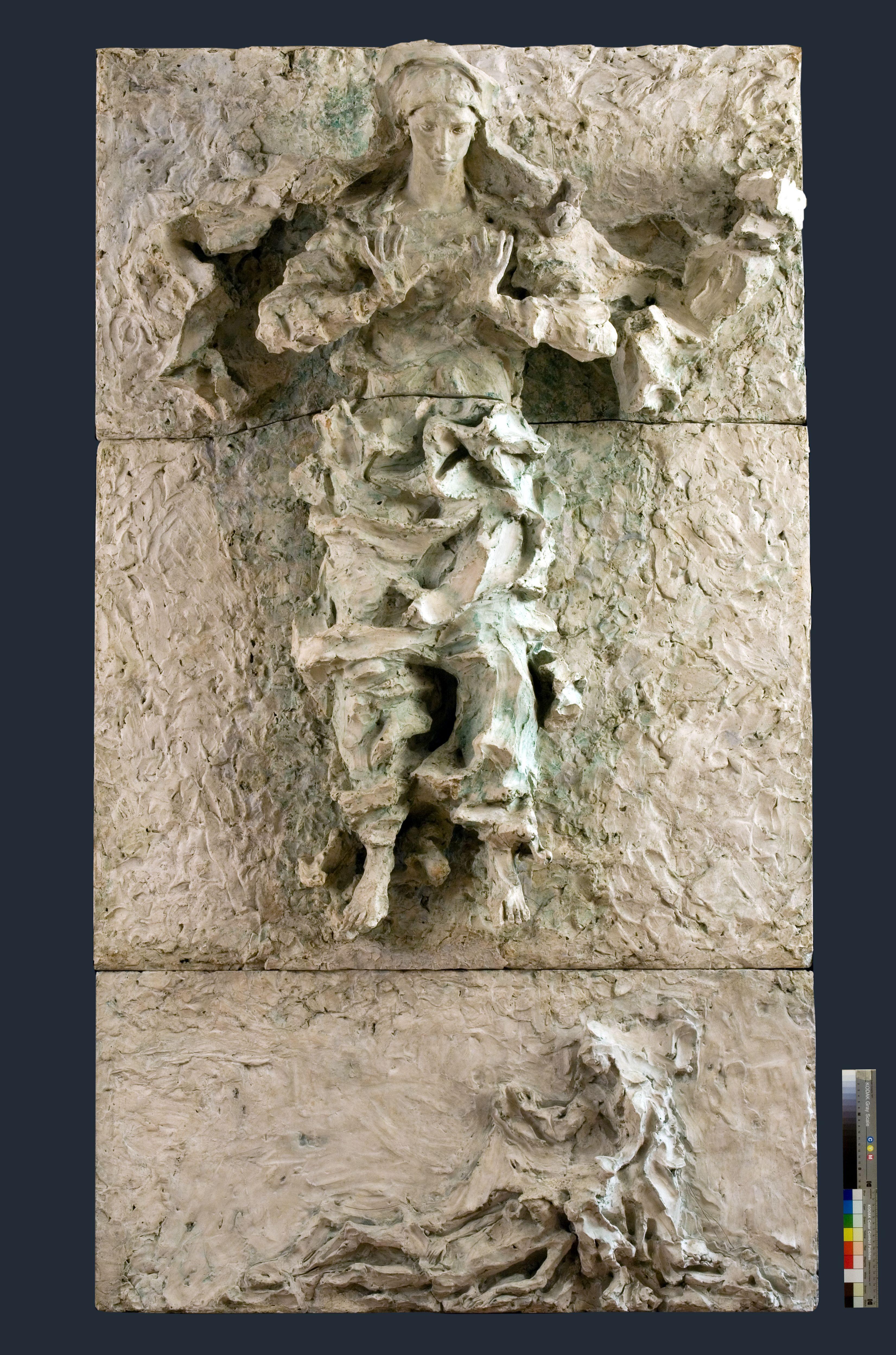 Lucio Fontana, Pala della Vergine Assunta, gesso