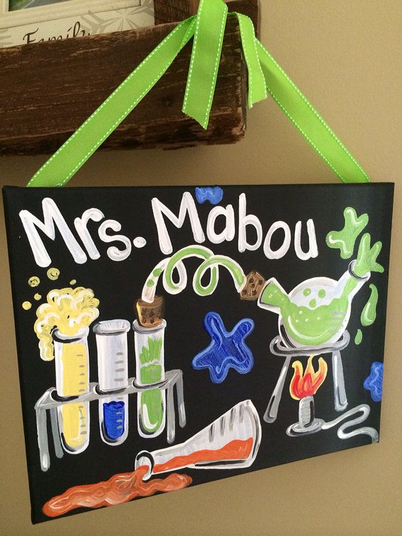 teacher gift hand painted teacher door sign by melanielupien