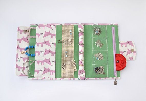 Jewelry holder jewelry roll jewelry travel case travel jewelry