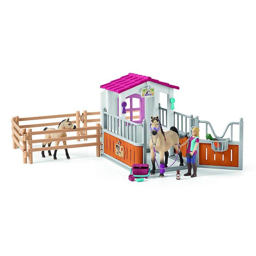 Schleich Horse Club 42369 Pferdebox avec arabes et chevaux infirmière