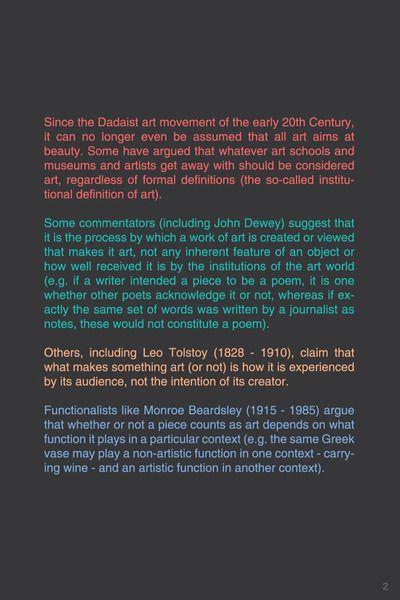 What Is Art 2 3 Typography Typographyposter Philosophy Art
