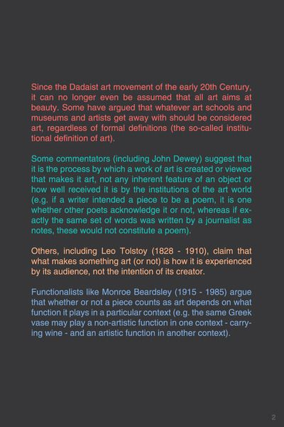 WHAT IS ART? [2/3] #typography #typographyposter #philosophy