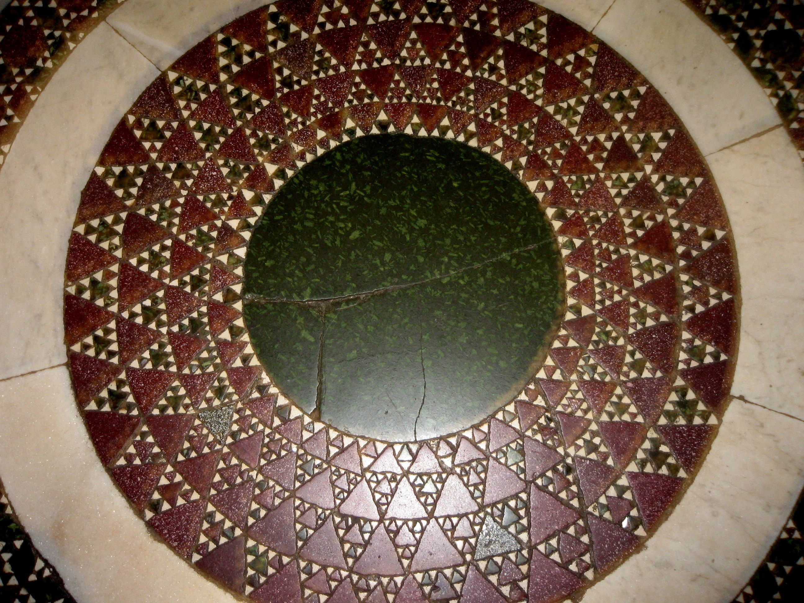 Sierpinski Triangle Fractal Floor, Vatican