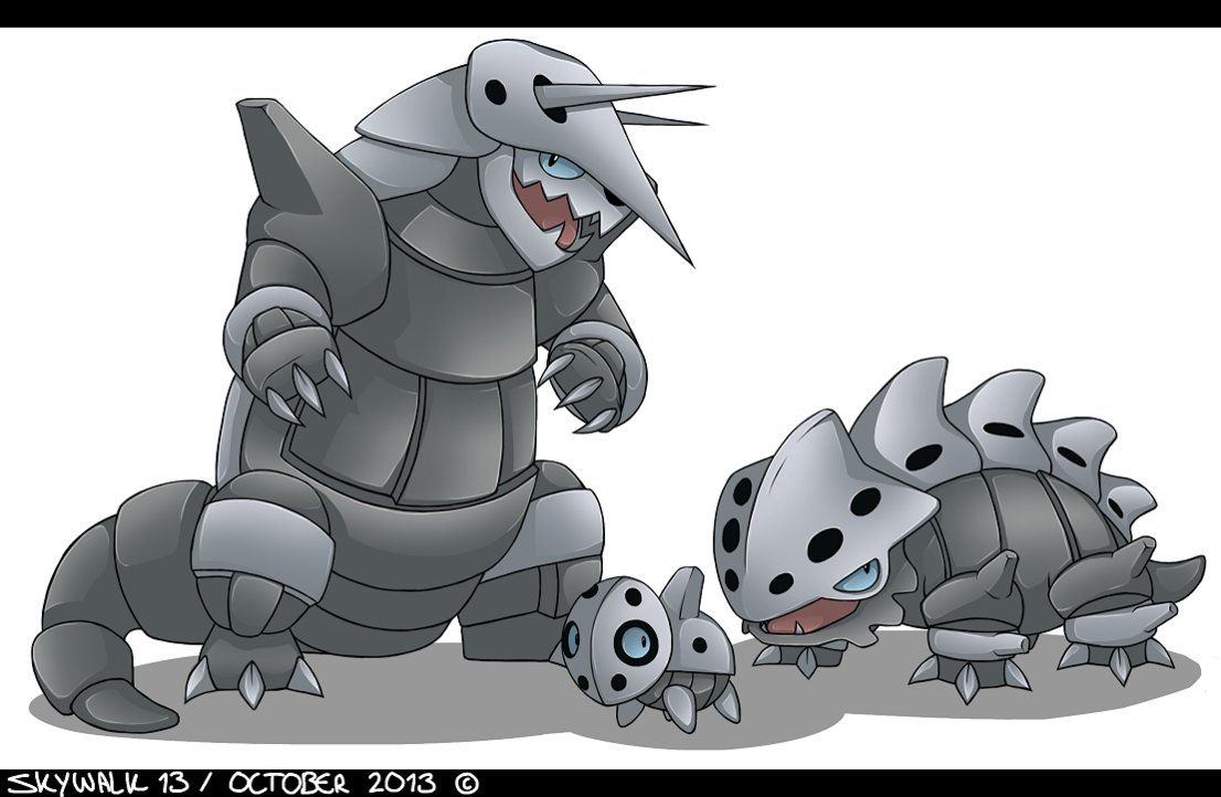 fanart___pokemon___aron_lairon_aggron_by_skywalk13-d6rmqsm.png (1106×722)