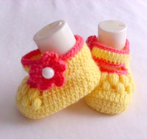 NEW SALE Baby Booties Baby Shoes Handmade Baby by modelknitting, $12.00
