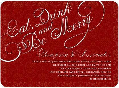 Eat Drink Be Merry Corporate Holiday Party Invitations at Tiny – Business Holiday Party Invitations