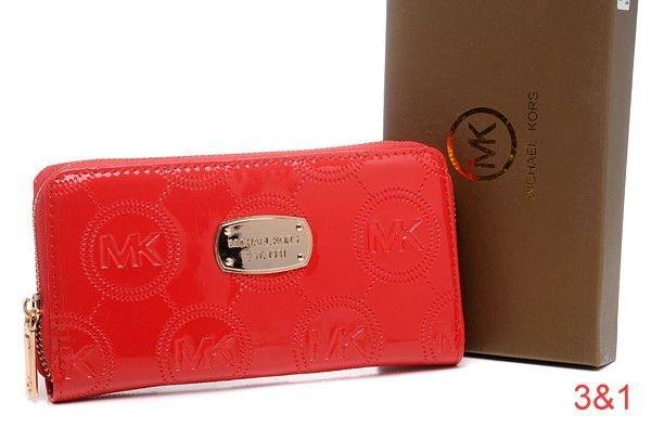 74e21605c9 Michael Kors Mirror Metallic Big Circle Logo Purses Red-$68 | Bags ...