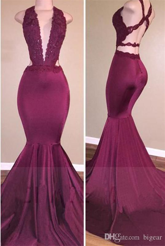 $120.61/piece:buy wholesale low cut v-neck mermaid prom dress with ...