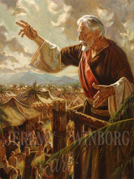 King Benjamin S Address Giclee Print Book Of Mormon Lds