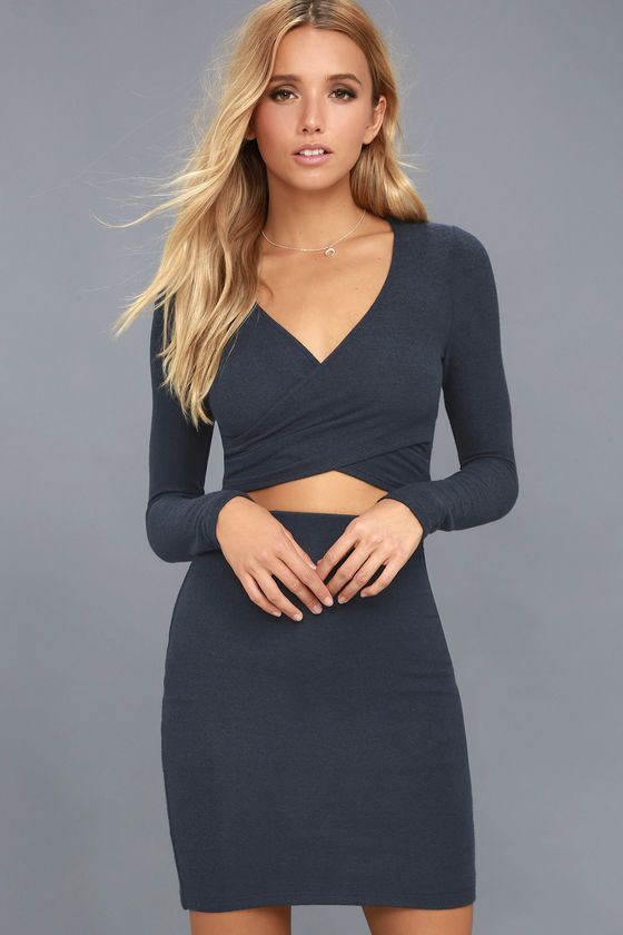 beda802d7f ... most cozy way possible with the Arabesque Navy Blue Two-Piece Dress!  Ultra soft