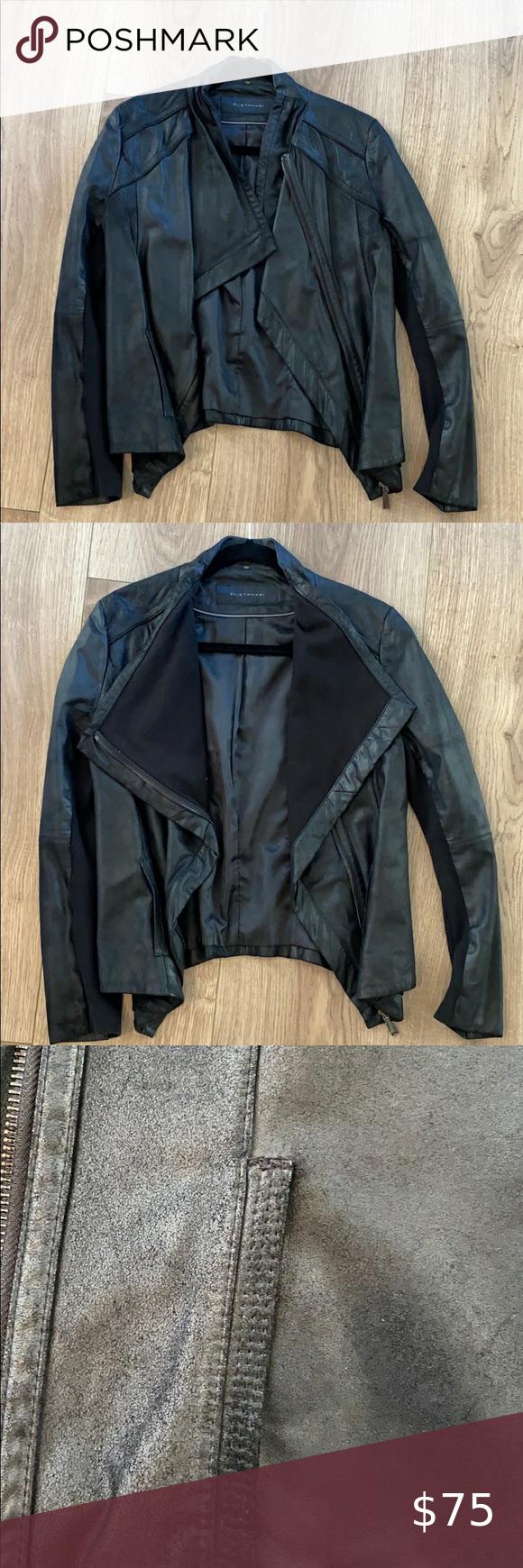 Eli Tahari Leather Jacket Leather Jacket Jackets Clothes Design [ 1740 x 580 Pixel ]