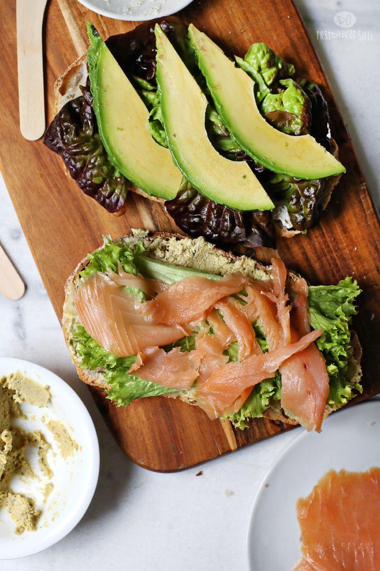 smoked salmon & avocado sandwich