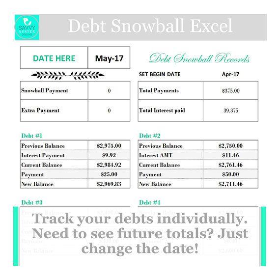 Debt snowballloan payoff excel spreadsheet debt planner Organize