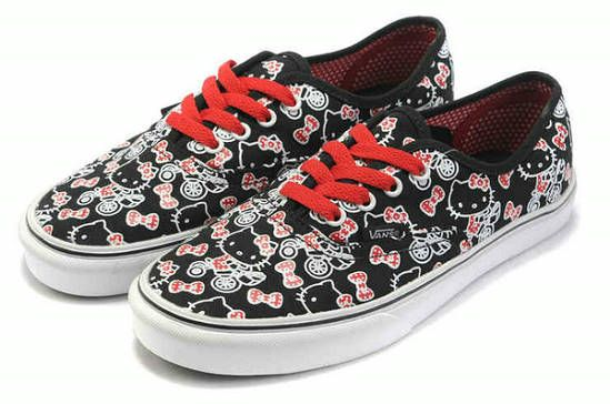 b16a0421d8 Vans x Hello Kitty Authentic Black True White Skate Shoes Buy  205  -   39.99   Vans Shop