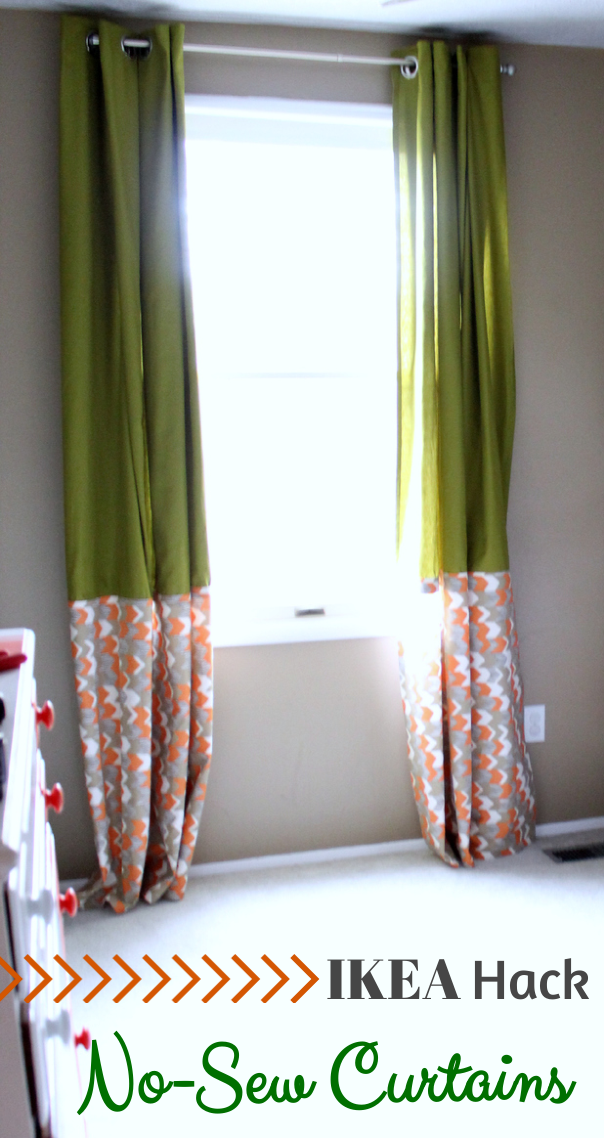 IKEA Hack No Sew Curtains