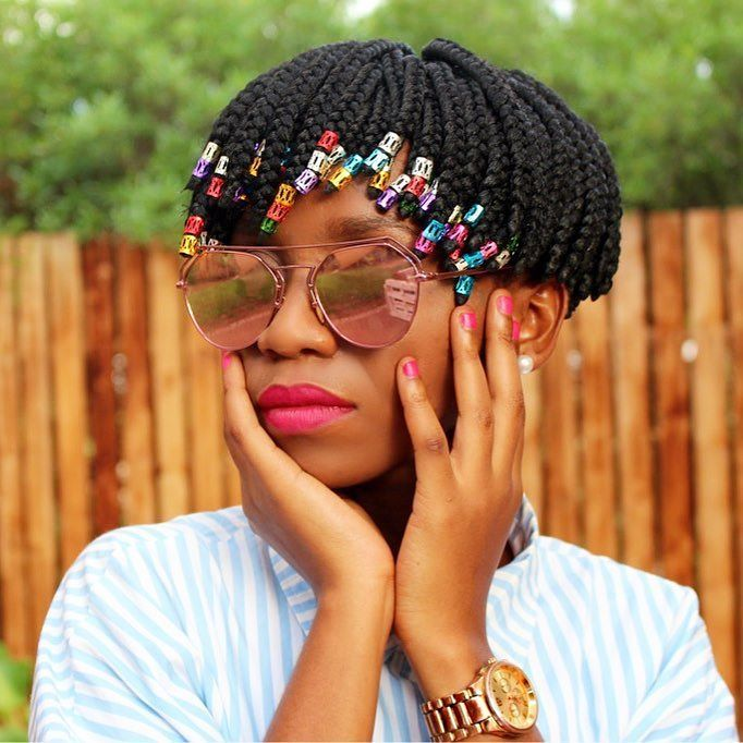 Nice 25 Timeless Short Box Braids Ideas Protecting Your Hair Stylishly With Box Braids Short Box Braids Box Braids Styling Short Box Braids Hairstyles