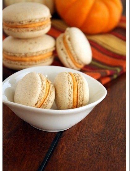 Pumpkin-Macarons | @Mindy Burton CREATIVE JUICE