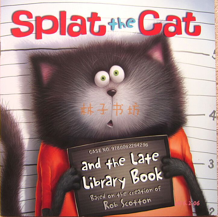 Original English children's picture books Pata Cat Splat the Cat Sticker, looking through the book - Taobao