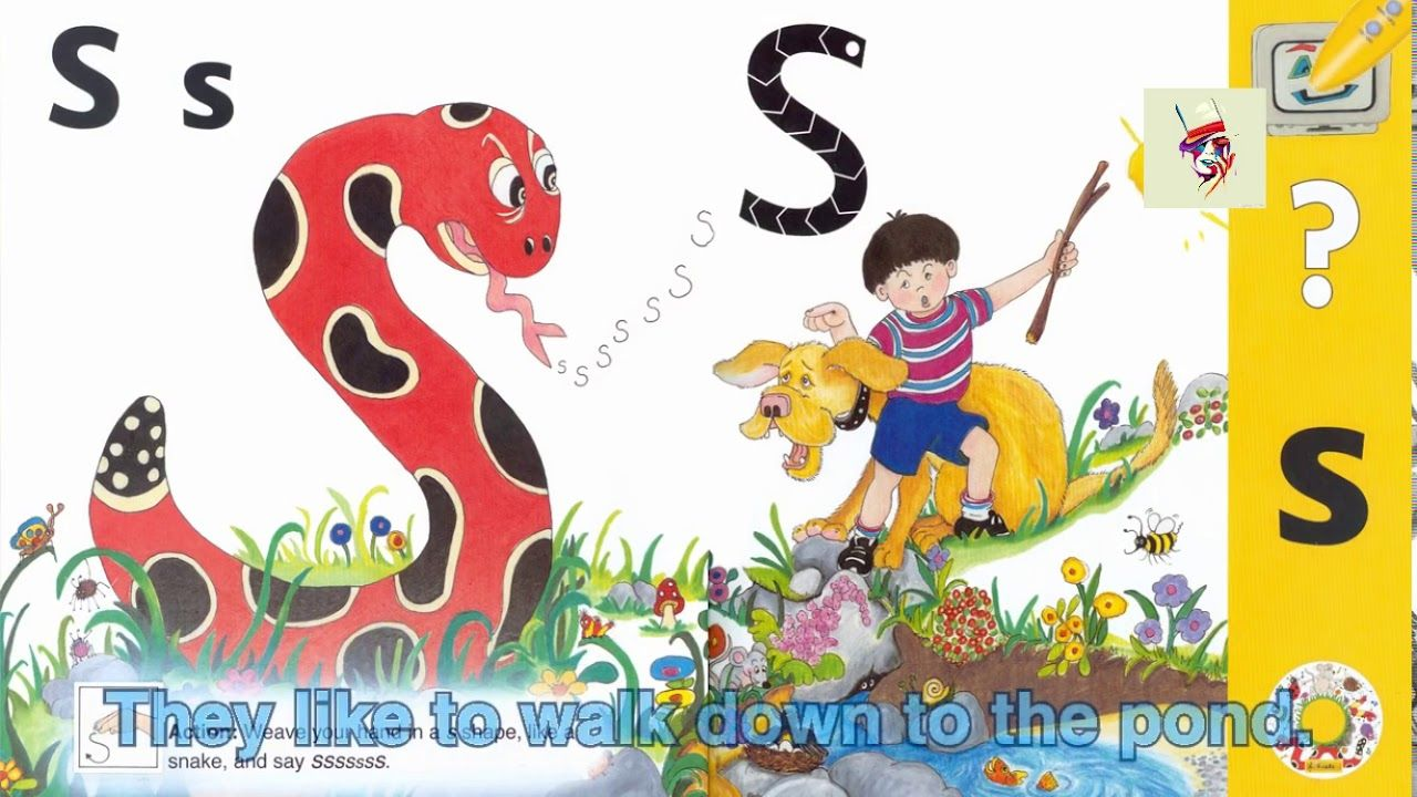 Shape, Sound, Song and Story Of Letter S (Jolly Phonics
