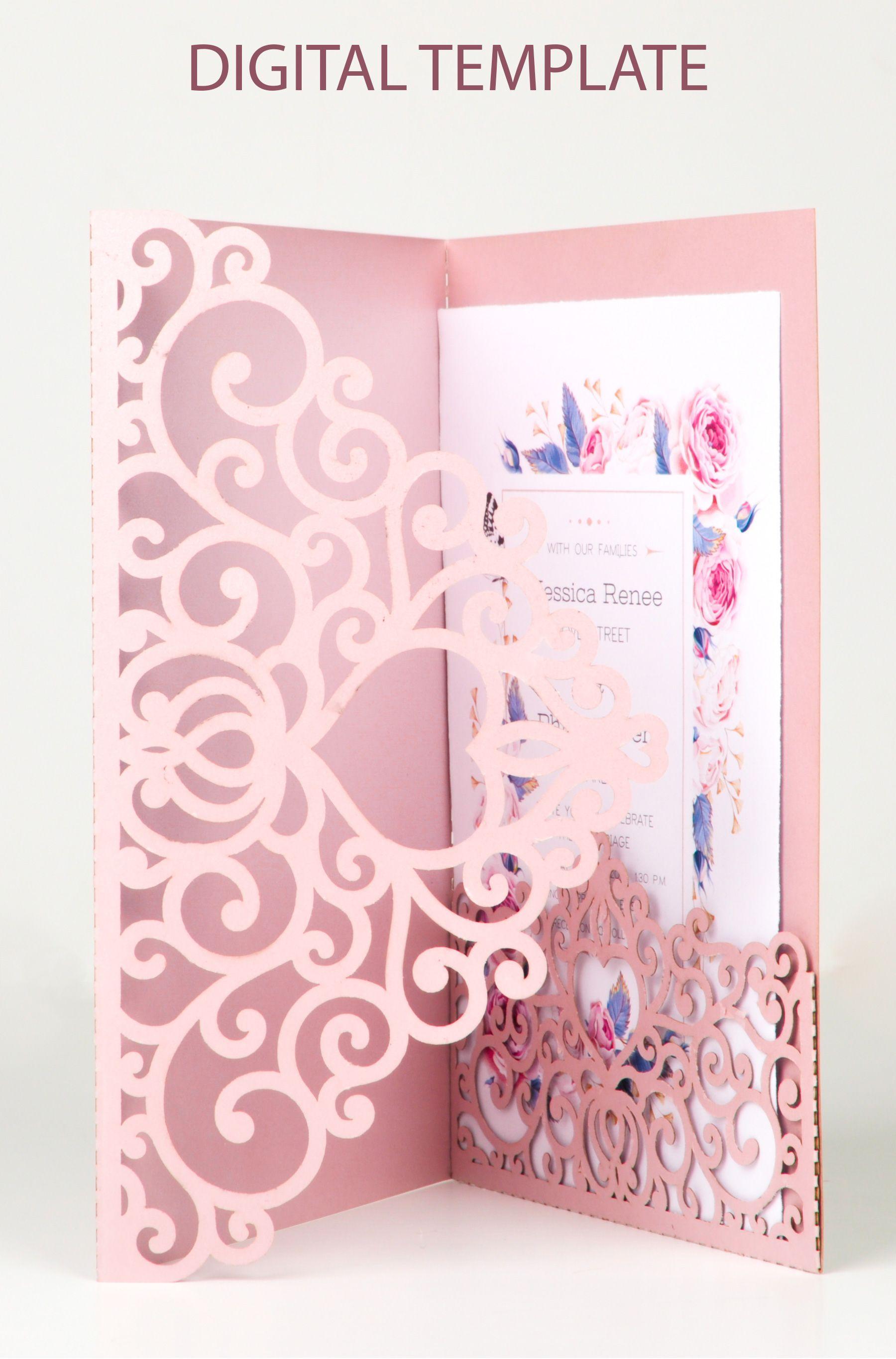 Wedding Envelope Invitation Template Ideas Design Cheap Budget Pocket Wedding Invitations Tri Fold Wedding Invitations Wedding Invitation Card Design