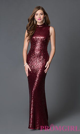 Long Sequin High Neck Prom Dress SSD-3373 by Swing Prom at PromGirl ...