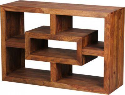 Wohnling WOHNLING Bücherregal MUMBAI Massiv-Holz Sheesham 105 x 70 - wohnzimmer design landhaus