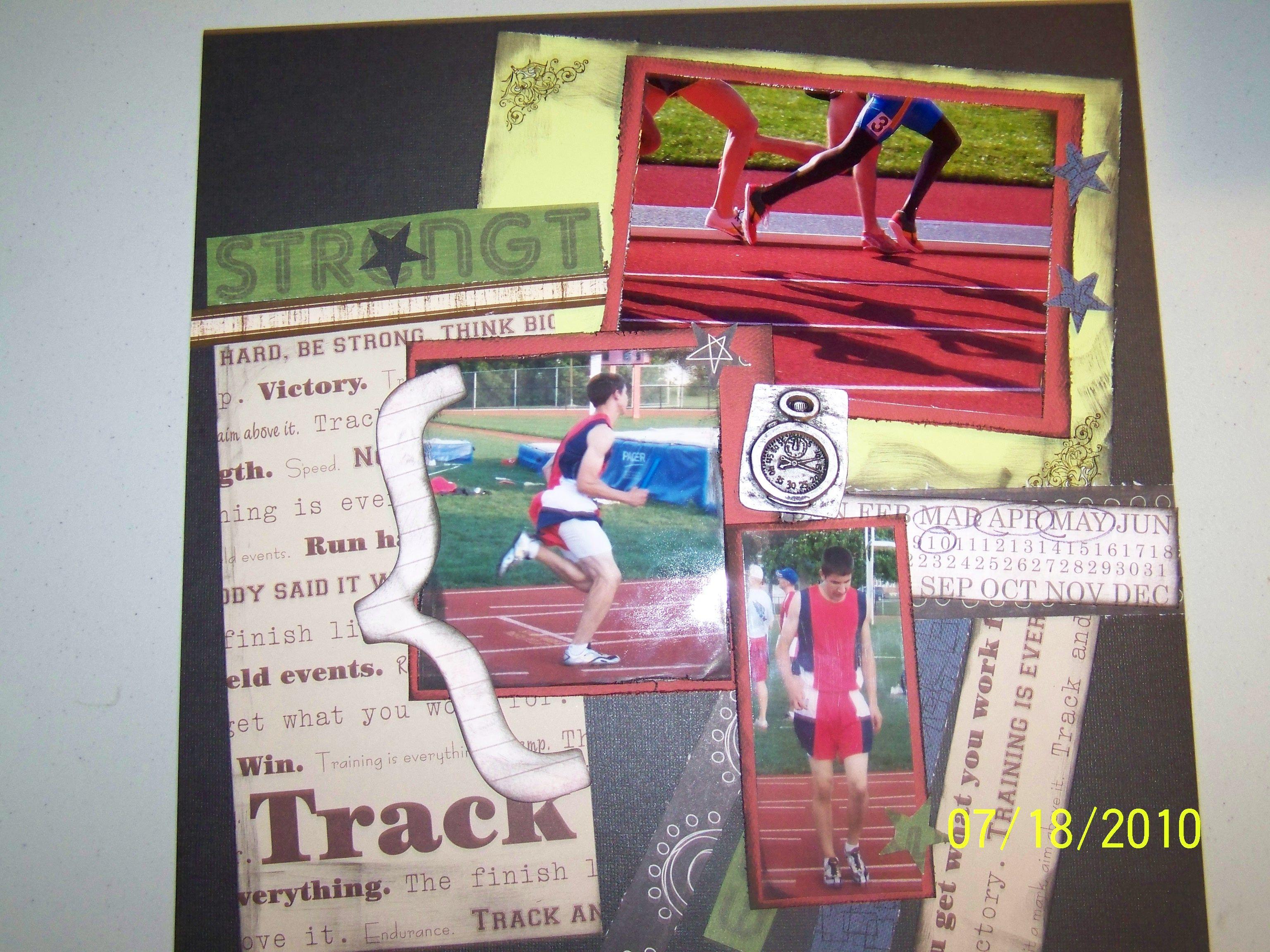 Running scrapbook ideas - Track Scrapbook Com