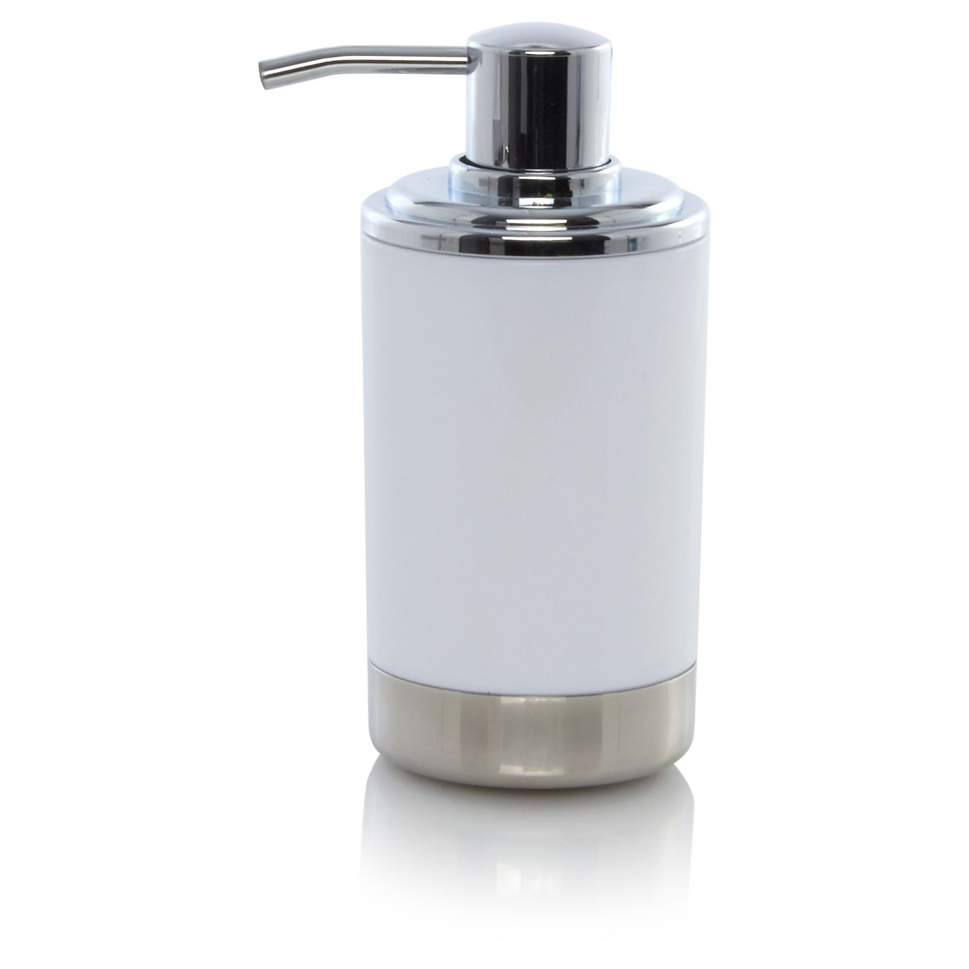 George Home White And Chrome Soap Dispenser  Bathroom Accessories Cool Chrome Bathroom Accessories Design Inspiration