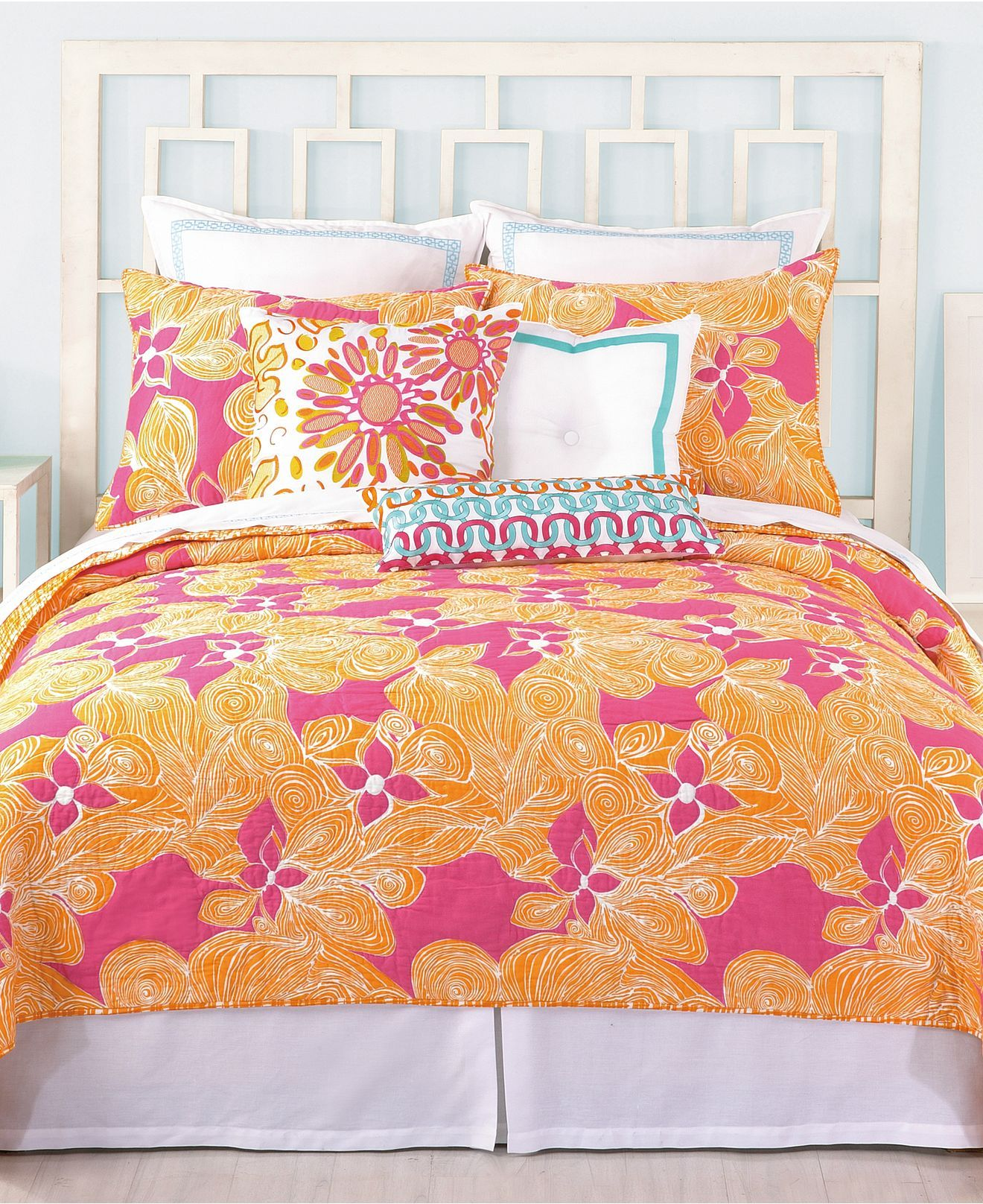 CLOSEOUT! Trina Turk Floral Coverlet Collection Quilts