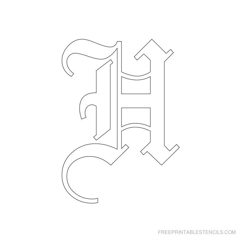 Free Old English Stencil Letters 77