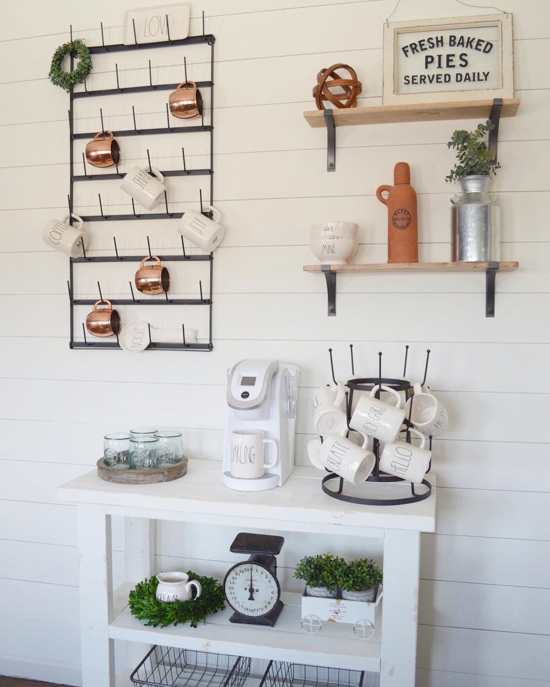 DIY Shiplap Wall Full Of Rae Dunn