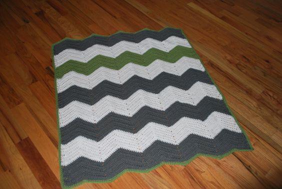 Free Crochet Chevron Stripe Baby Blanket Great Pattern Easy To