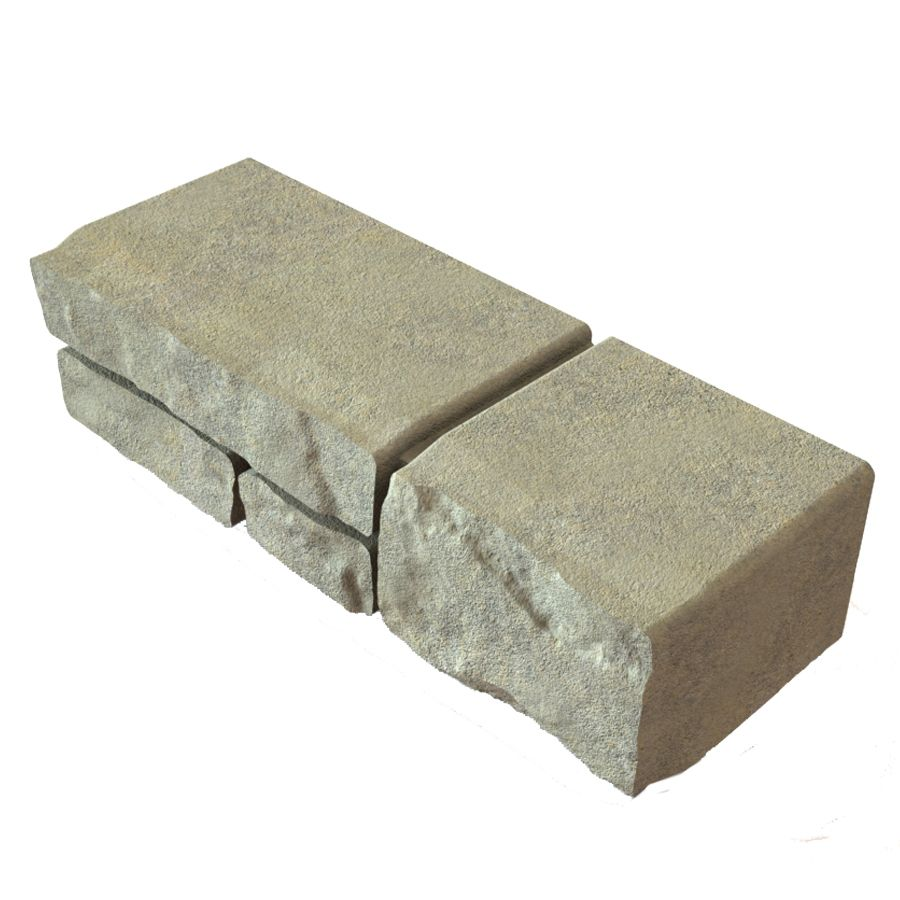 Oldcastle Townsend Tan Charcoal Retaining Wall Block Common 4 In X 16 In Actual 4 In X 16 In Lowes Com Retaining Wall Block Retaining Wall Concrete Retaining Walls
