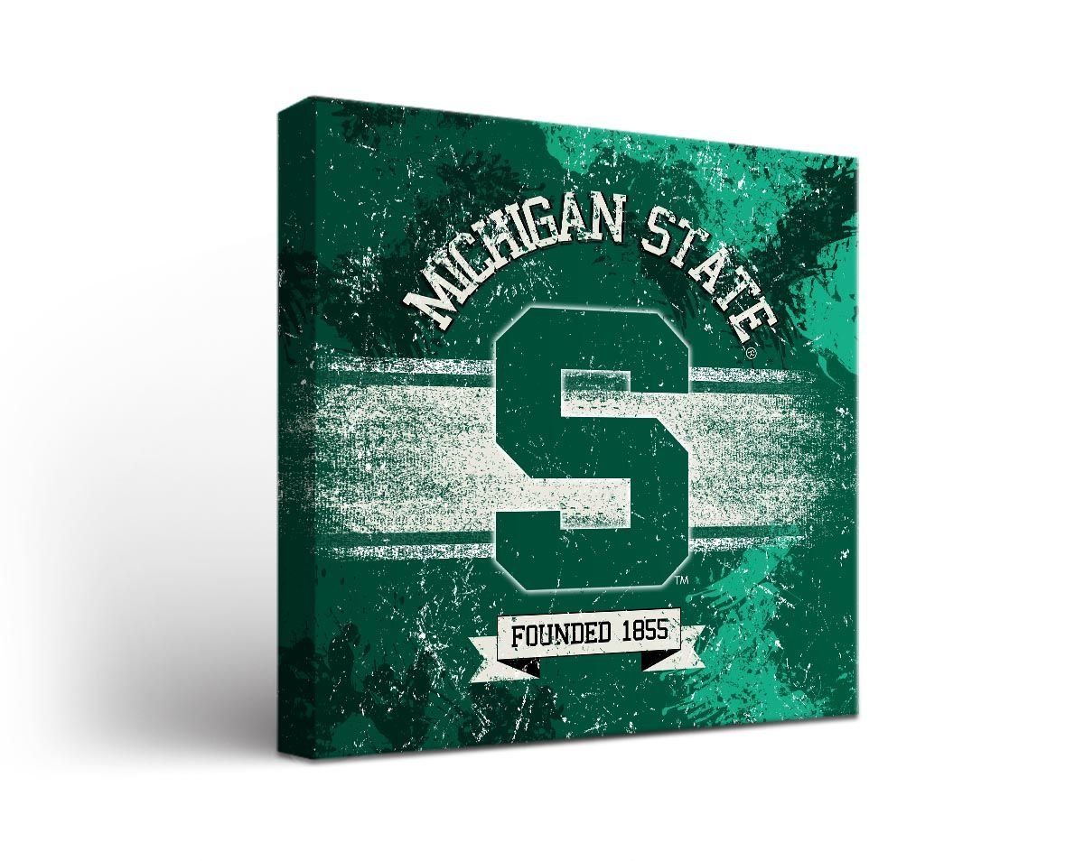 Michigan State Spartans Canvas Wall Art Banner Design 1423066153 Jpg 1200 954 Canvas Wall Art College Wall Art Michigan State Spartans