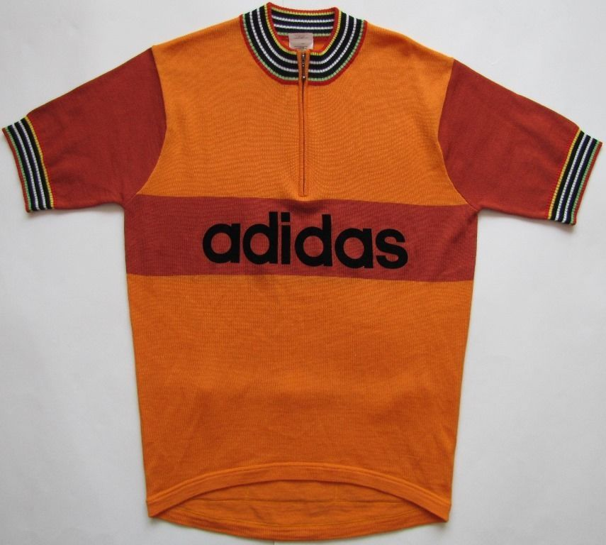 Details about Adidas 1970s 1980s cycling shirt top jersey