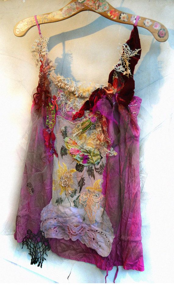 RESERVED For MARGIE Unique Art To Wear Tunic CHARLESTON TWENTIEs Gipsy Hippie…