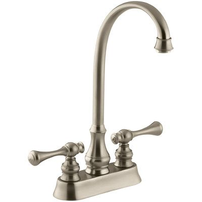 Kohler Revival Two Hole Centerset Bar Sink Faucet With Traditional