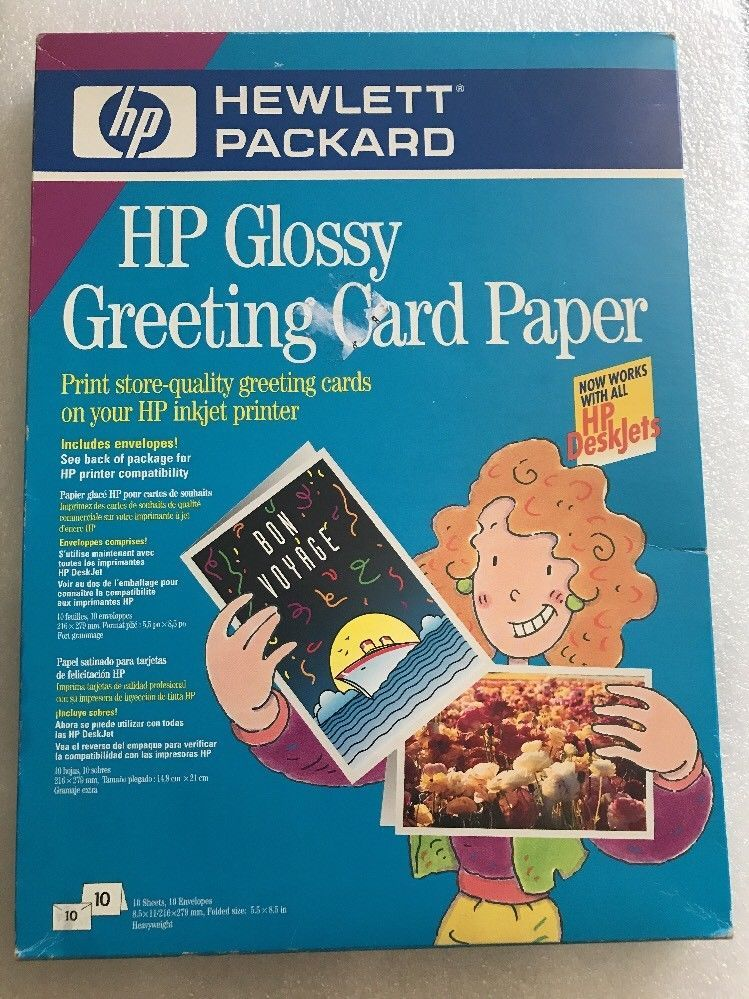 Hp glossy greeting card paper printer scanner ink toner and ebay hp glossy greeting card paper ebay m4hsunfo