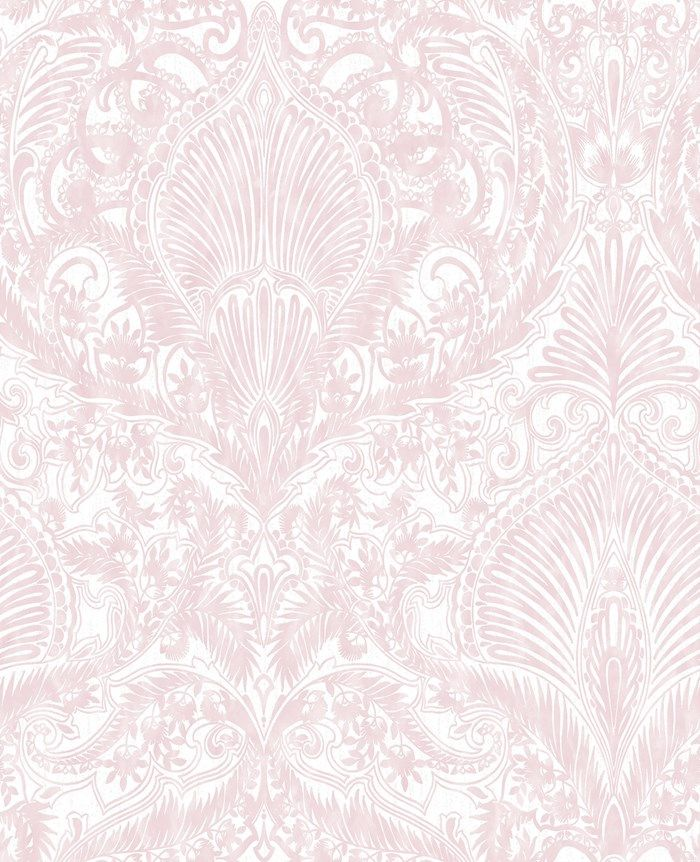 Burlesque Pink White Wallpaper By Graham And Brown My