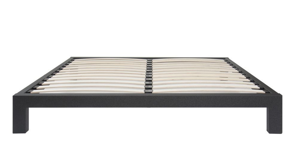 Good Black Metal Platform Bed Frame With Wood Slats In Twin Full Queen U0026 King  Asian Minimalism