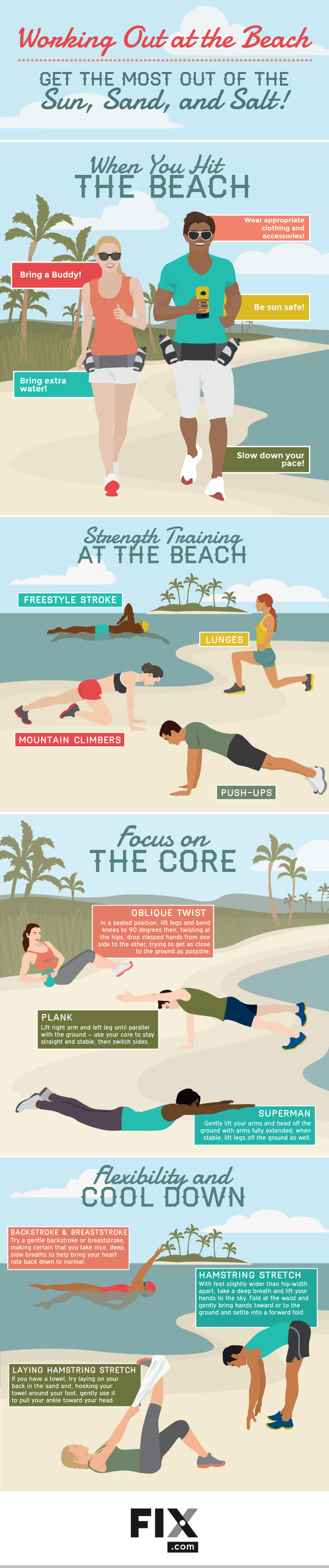 Working Out at the Beach Get the Most Out of the Sun, Sand, and Salt! #infographic