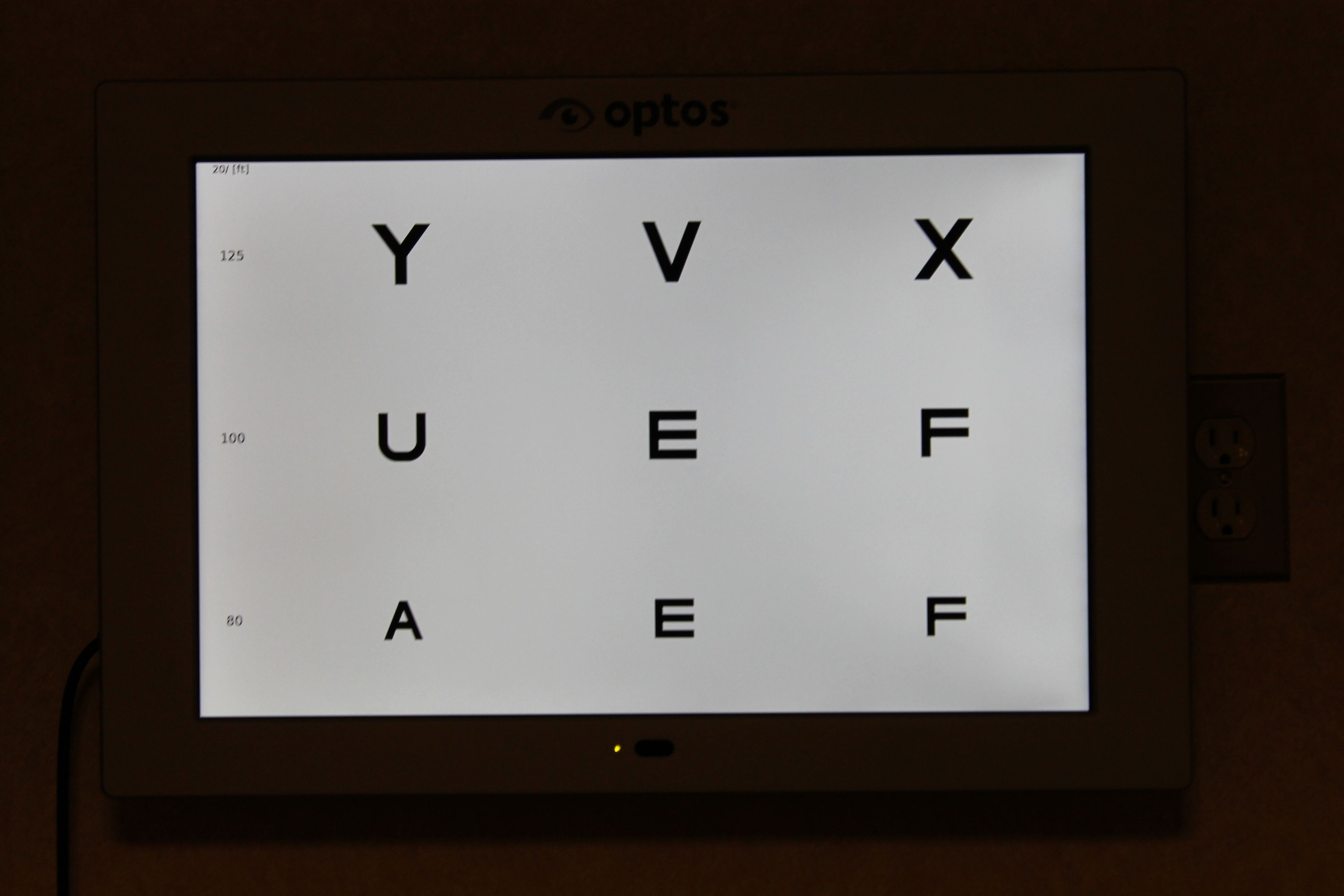 The ol eye chart has gone digital the optos screen technology the ol eye chart has gone digital the optos screen geenschuldenfo Image collections