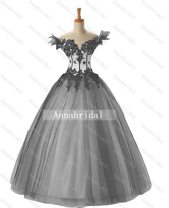 Sweetheart Gothic Wedding Dresses Vintage Sheer Off-shoulder Black Appliques and White Inside Corset Long Ball Gown Bridal 2014 Cheap New