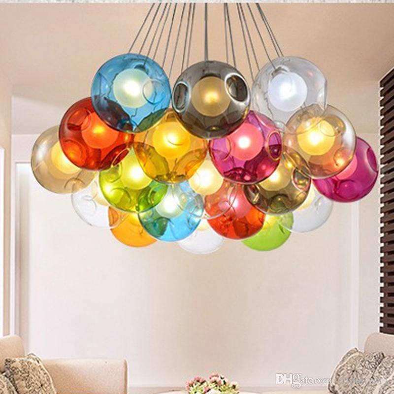 Colorful Glass Ball G4 Led Chandelier Lamp Jpg 800 800 Pixels Led Crystal Chandelier Led Chandelier Chandelier Lamp