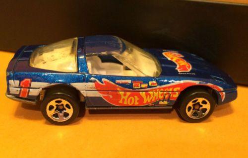 1982 Hot Wheels 80s Corvette Blue Nice Hot Wheels Corvette Hot